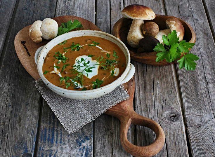 V kuchyni vždy otevřeno ...: Maďarská houbová polévka