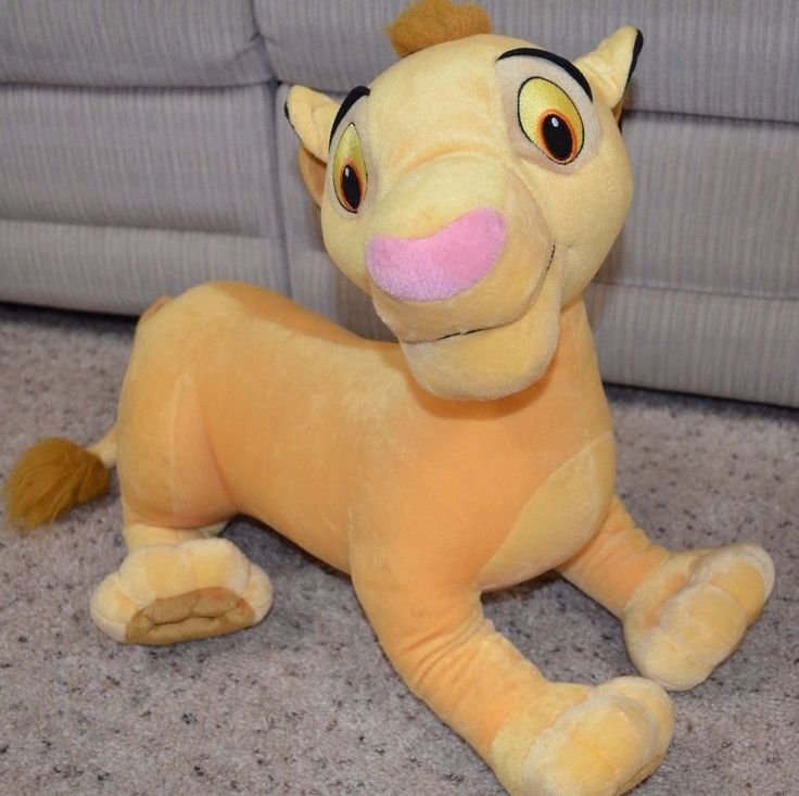 "Disney Young Simba Plush Hasbro Lion King 20"" Inches Huge Stuffed Animal New Tag  