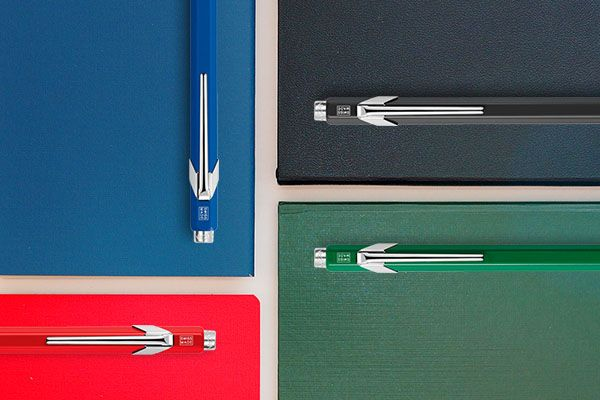 Caran D'ache 849 Popline Metalic Ballpoint pen, with holder