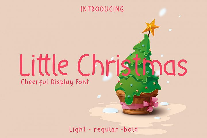 Little Christmas Cheerful Holiday Font 407036 Display Font Bundles Holiday Fonts Christmas Fonts Holiday Fonts Free