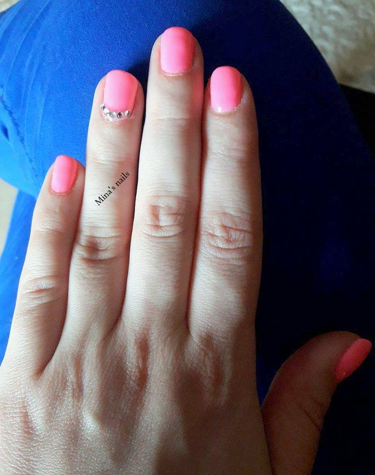 power pink nails
