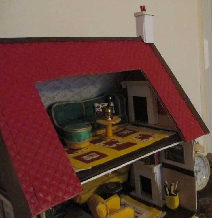 Midsomer cottage - chimney and cottage is completed