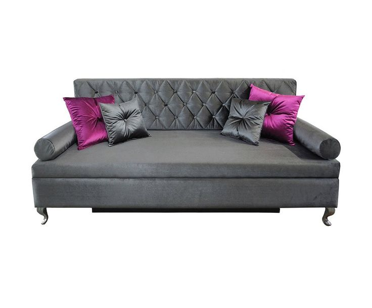 Sofa glamour graphite en