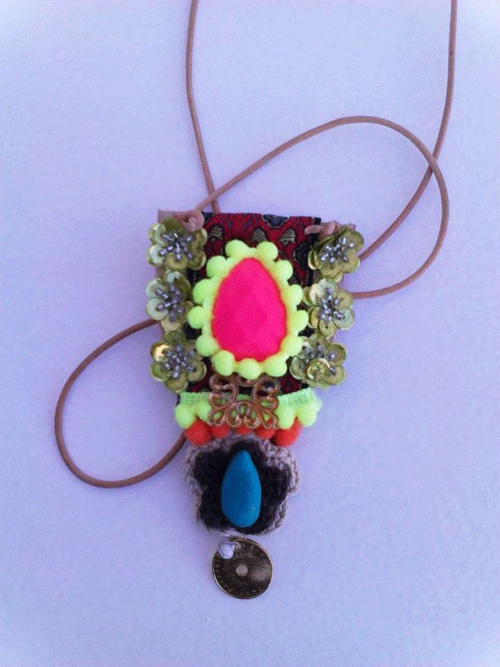 boho handmade necklace colorfull gypsy by boutiqueofsandals on Etsy