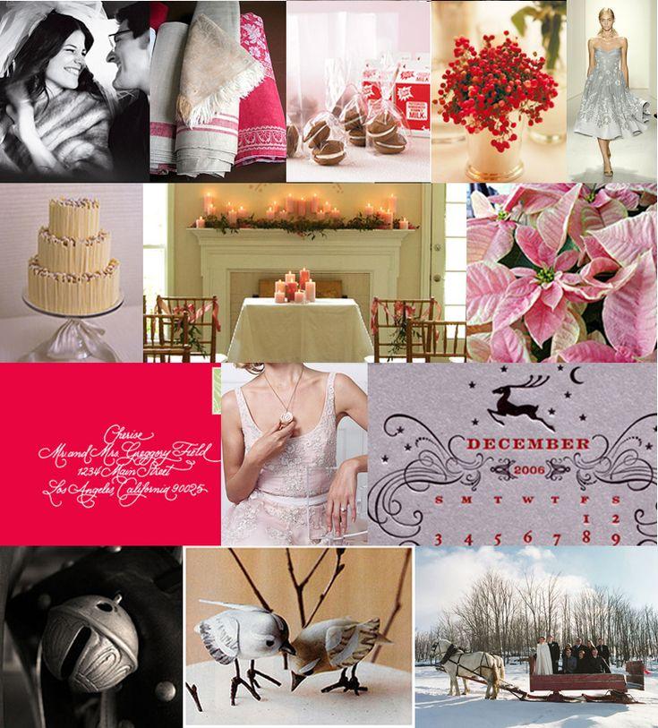 Winter wedding inspiration.  #redwedding, #snowwedding, #whitewedding