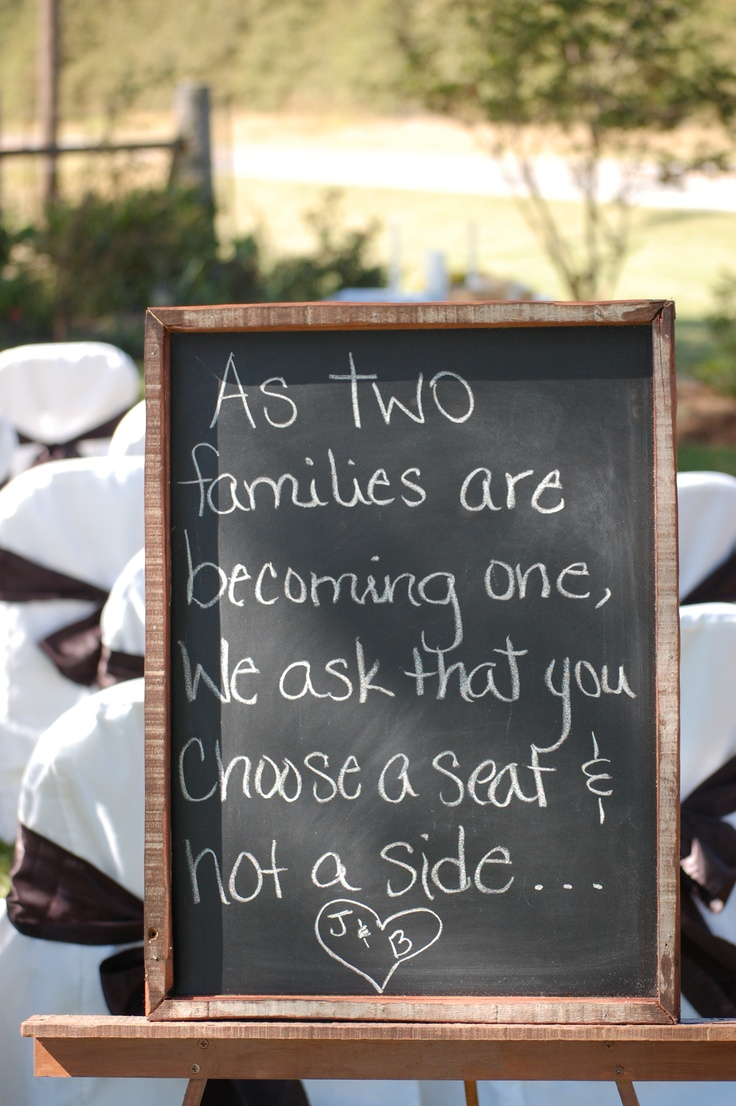 Wish more families would do this at weddings - its all about coming together :)