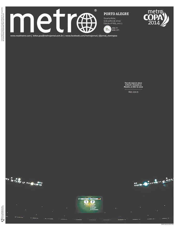Front pages of various Brazilian newspapers after the stunning 7 - 1 loss to Germany