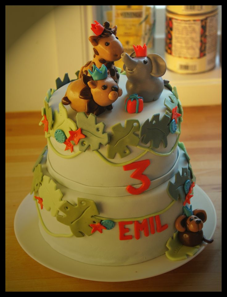 Animal cake to my sons 3rd birthday