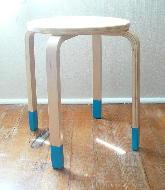 Dipped Furniture Legs: I Like The Idea Of 'dipping' The Legs Of A Chair, Stool