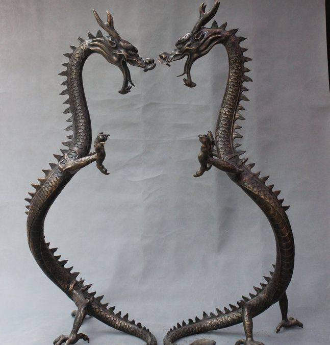 "Alibaba グループ | AliExpress.comの 像彫刻 からの 48 ""古い中国風水宮殿ブロンズ中国干支ドラゴン像ペア 中の 48 ""古い中国風水宮殿ブロンズ中国干支ドラゴン像ペア"
