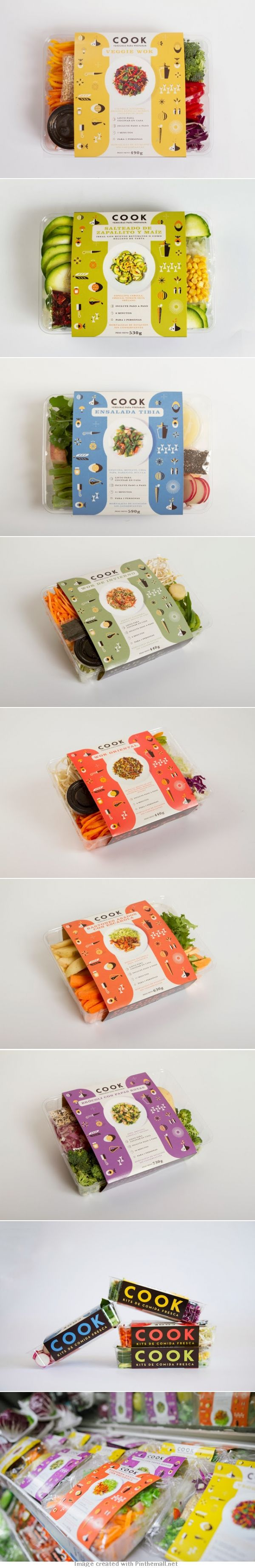 Cook (Uruguay) does an outstanding job of having packaging that pops and stands out. #Packaging #Design #Eat