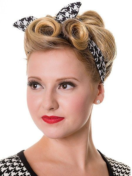 Banned Dogtooth Haarband 50 Pinup Frisuren Retro Glam