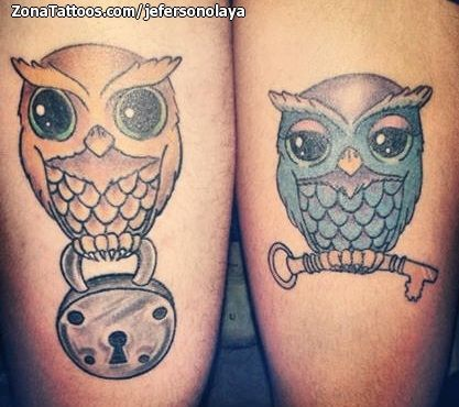 Tatuaje de jefersonolaya Búhos, Animales, Aves, Candados, Llaves En ZonaTattoos, tu web de tatuajes