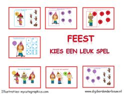 Digibord Feest: kies een leuk spel. Deze digibordles gaat over verjaardagen. Wie is er de oudste, de jongste? Hoeveel jaar was je gisteren? Hoeveel jaar word je volgend jaar? Hoeveel vingers steek je op als je 4 bent. etc. http://digibordonderbouw.nl/index.php/themas/feest/feestdigibordlessen