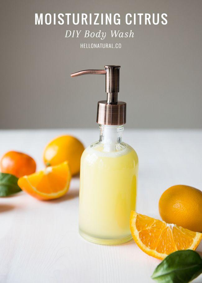 Homemade Coconut Oil and Citrus Body Wash Recipe