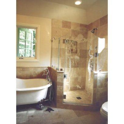 45 best clawfoot tub shower images on pinterest clawfoot for Clawfoot tub bathroom ideas