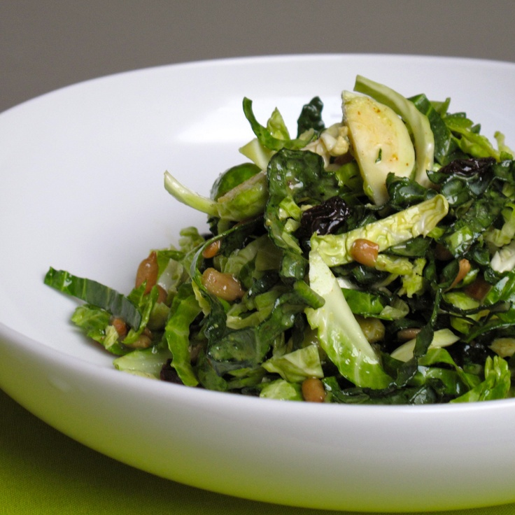 This shredded brussels sprouts salad combines my two favourite veggies ...