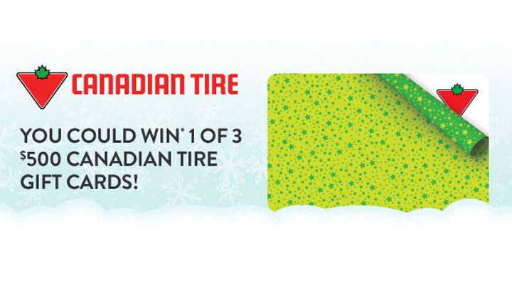You should enter You Could Win 1* of 3 $500 Canadian Tire Gift Cards. There are great prizes and I think one of us could win!