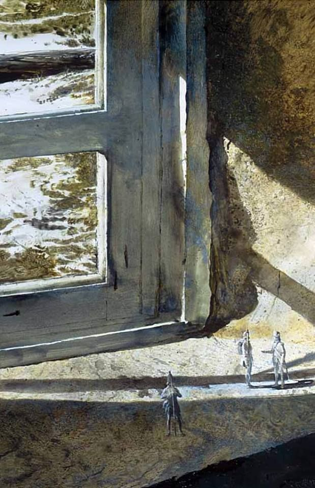 Andrew Wyeth  British At Brandywine. 1962 drybrush watercolour. © Andrew Wyeth Brandywine River Museum