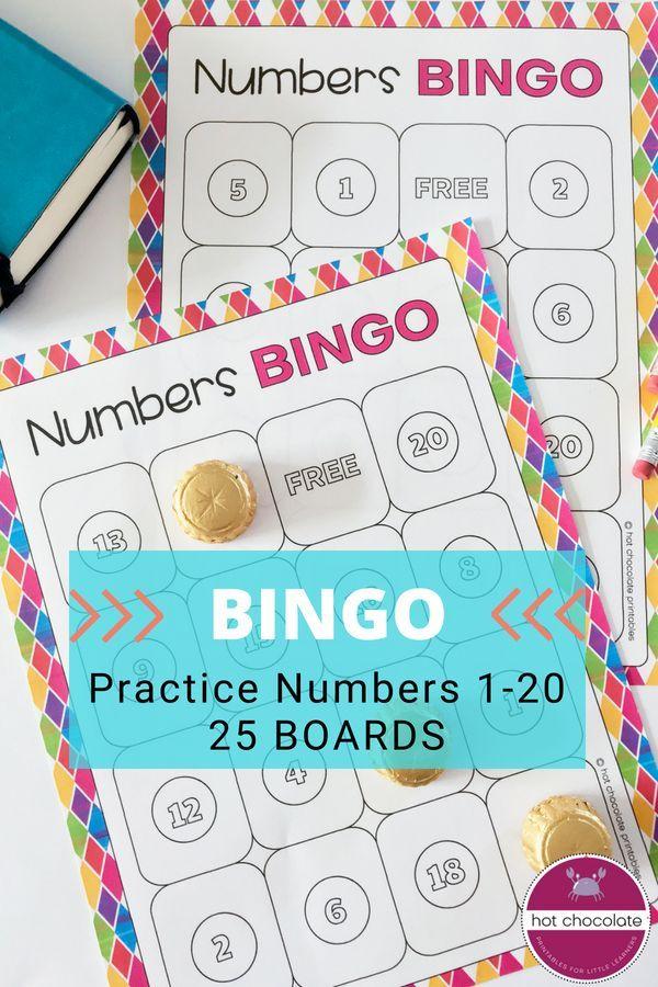 Numbers 1 -20 Bingo Game - 25 Different Boards All Preschool @TpT