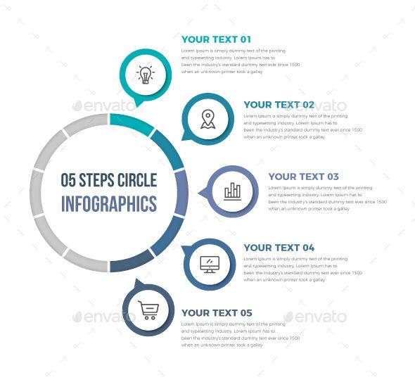 Simple Circle Infographics Template Vector EPS, AI Illustrator