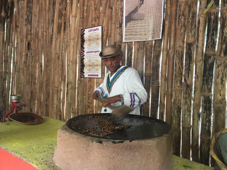 Roasting the coffee beans in El Tuito, near Villa del Palmar Puerto Vallarta