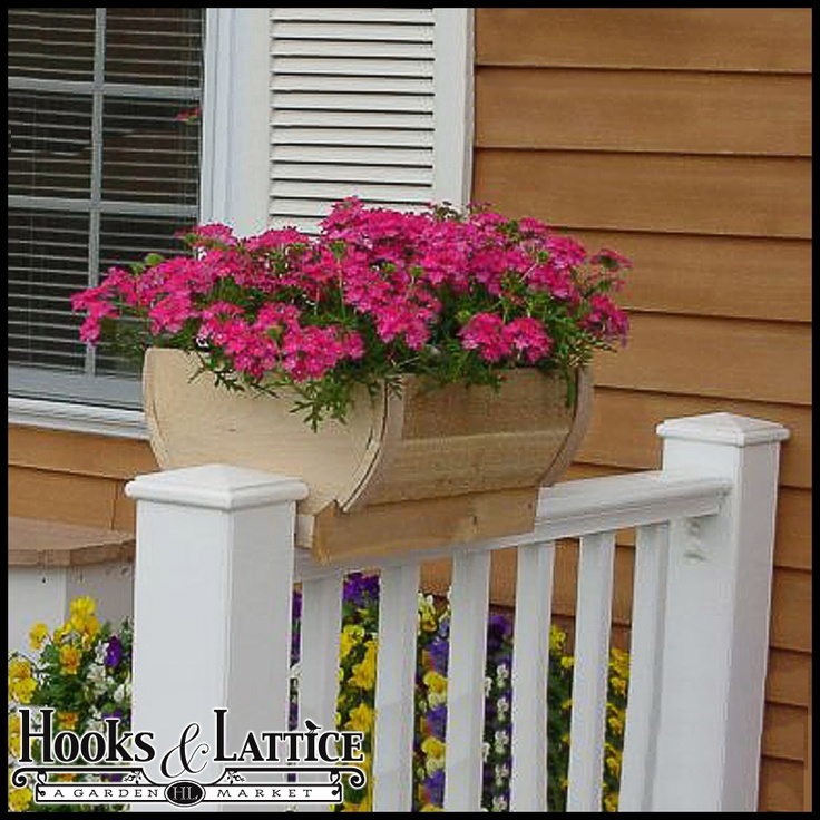 32 Best Deck Rail Planters Images On Pinterest: 19 Best Garden│Containers: Deck Railing Images On