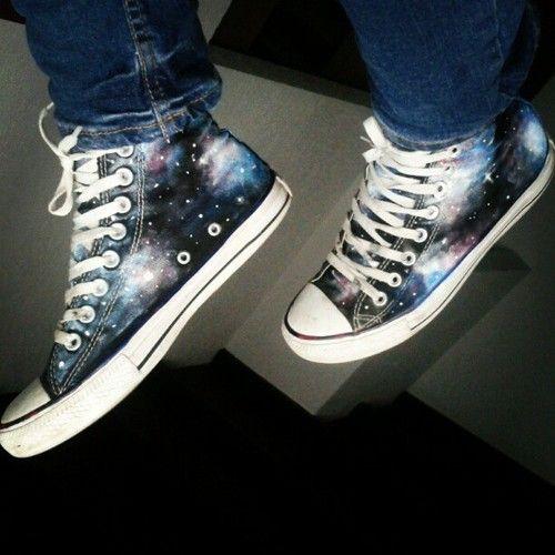 Galaxy Converse | all star converse galaxy | We Heart It