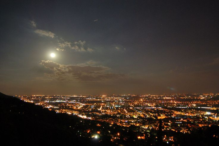Brescia vista dalla Maddalena con Luna in perigeo