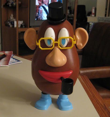 Back when Mr. Potato Head still had a pipe.