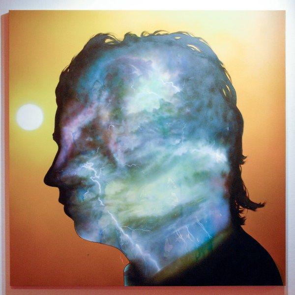Friedrich Kunath - Inside Out - 152x152cm Acrylverf en waterverf op doek
