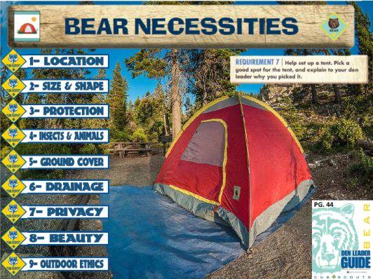 Cub Scout Tent Set Up