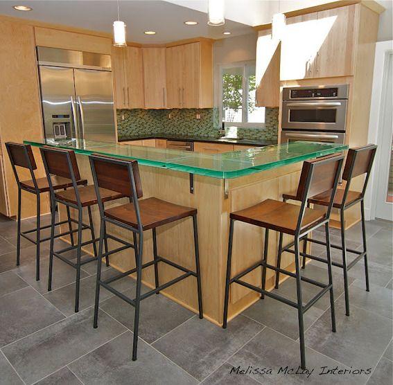 Contemporary Kitchen Renovation---glass counter