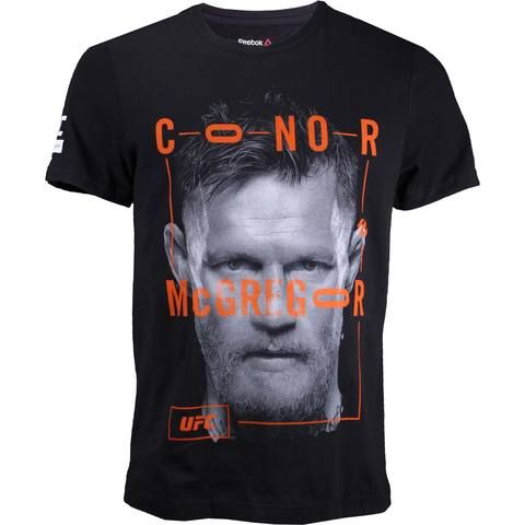 REEBOK UFC ARTIST SERIES CONOR MCGREGOR SHIRT Reebok UFC Artist Series Conor Mcgregor Shirt  100% Cotton Screen print graphics Short sleeve Officially licensed Imported Reebok and UFC logos