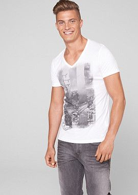 V-Neck-Shirt mit Fotoprint im s.Oliver Online Shop