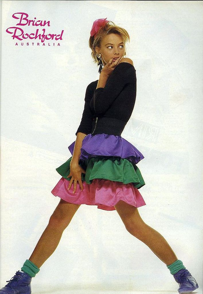 Ad for Brian Rochford fashions from Dolly magazine, November 1987.