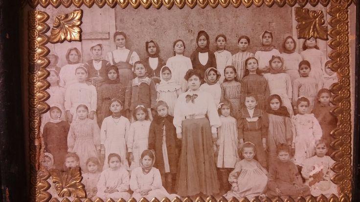 3rd grade 1919, Megara, Greece, Christina Tripou
