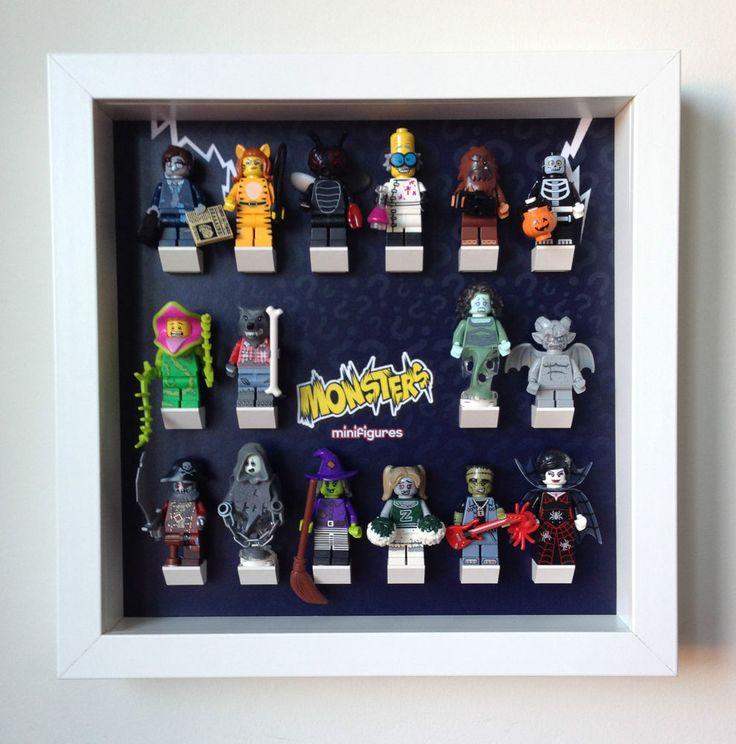 #Lego #Series 14 Monsters minifigures Frame. Display Case for Lego Minifigures #LEGO #LegoMinifigures #Legoseries14 #legoframe http://www.minifiguresdisplay.com/