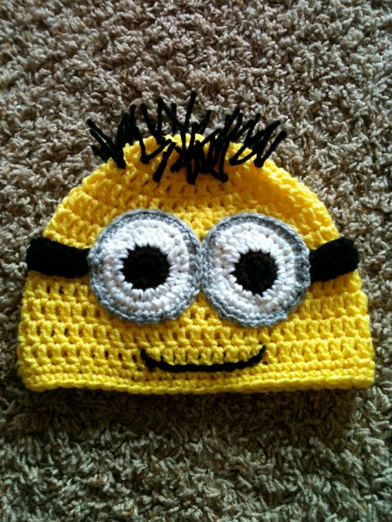 Dispicable Me Minion Beanie Hat by CraftedbyMwa on Etsy, $20.00: Crafts Ideas, Halloween Costumes, Diy Crafts, Crochet Hats, Beanie Patterns, Despicable Me, Beanie Hats, Minions Beanie, Baby Stuff