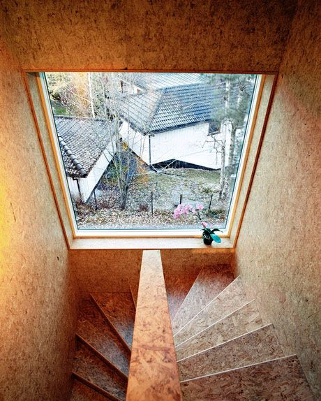 oriented strand board stairs by Jarmund/Vigsnaes AS Architects MNAL