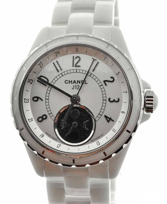 Ladies Chanel J12 h3404 Ceramic Case Silver Automatic Watch | 300watches