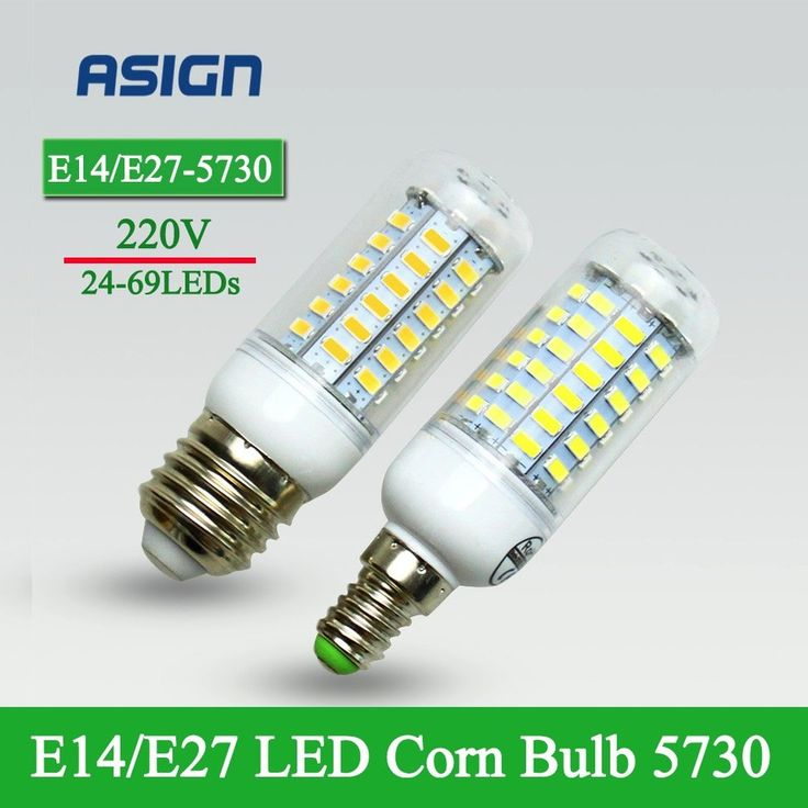 E27 E14 LED Corn Bulb 220V/230V Christmas Lights SMD5730 Led Bulb Lamp Warm White/ White 24 36 48 56 69LEDs Lampada Led