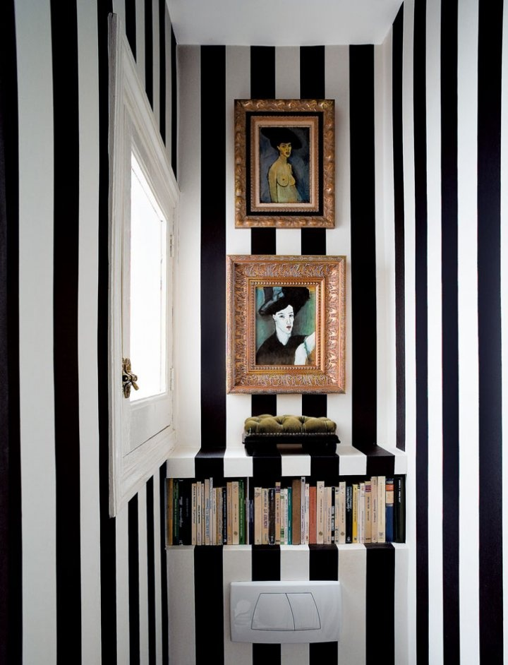 Striped Cloakroom/toilet