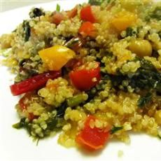 Becoming Betty: QUINOA CHICKEN PEPPERS & KALE