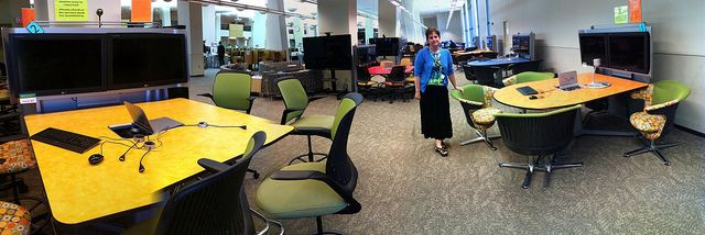 Collaborative learning spaces at the Texas Tech library by Wesley Fryer, via Flickr