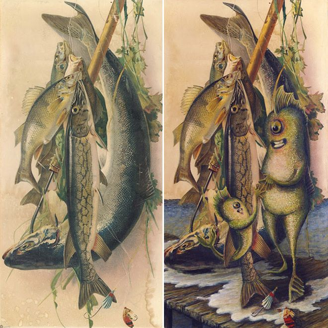 17 best images about altered vintage art on pinterest for Fish thrift store