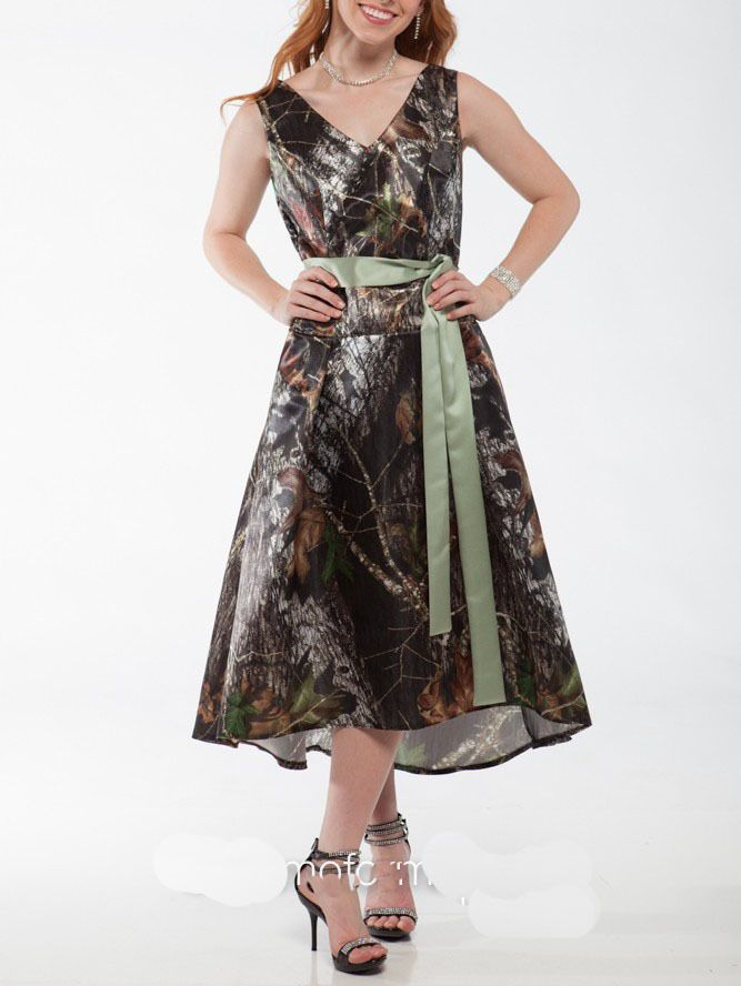 Dresses Bridesmaid Black Camouflage And Wedding