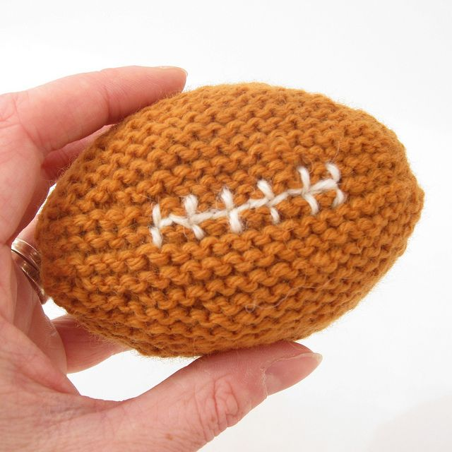 Baby's First Football - free knitting pattern