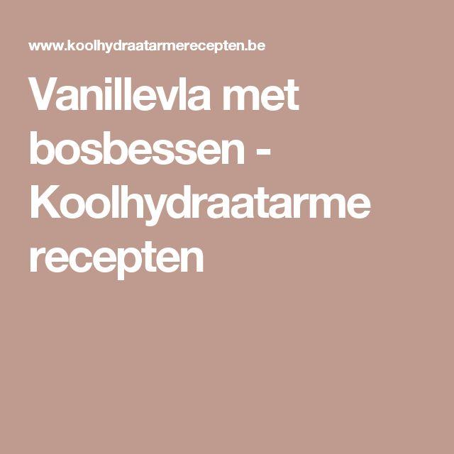 Vanillevla met bosbessen - Koolhydraatarme recepten
