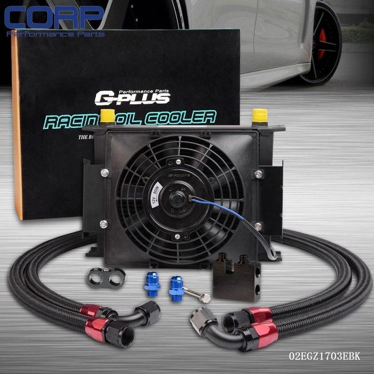 """69.90$  Watch now  - """"25 Row AN-10 Oil Cooler+7"""""""" Fan For BMW N54 Twin Turbo 135 E82 335 E90 E92 E93"""""""